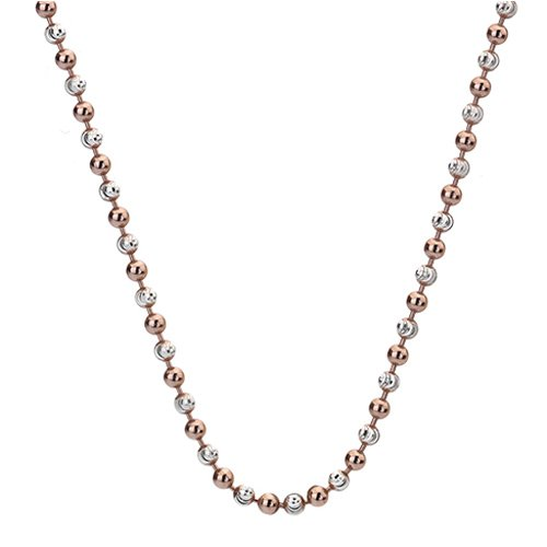 Strieborná retiazka Hot Diamonds Emozioni Silv and Rose Gold Bead Chain 18