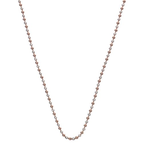 Strieborná retiazka Hot Diamonds Emozioni Silv and Rose Gold Bead Chain 35