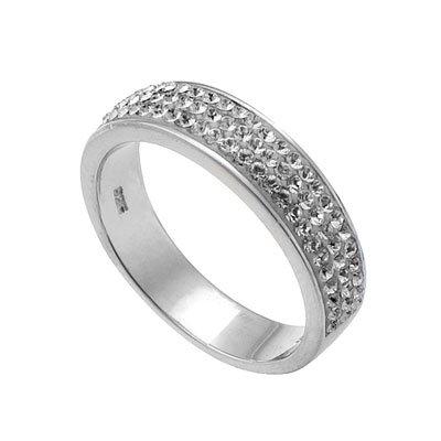 Swarovski Strieborný prsteň s krištáľmi Swarovski Oliver Weber Basic -  eŠperky.sk cf7ef9b6f9f