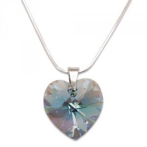 Strieborný náhrdelník s krištáľom Swarovski Aquamarine 4993 5e0ff2ae600