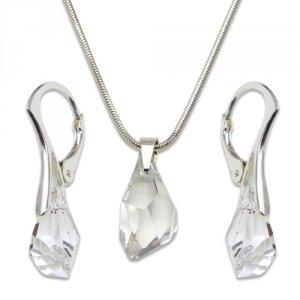 Strieborná sada s krištáľmi Swarovski Polygon Crystal 495105 58fe65f9043