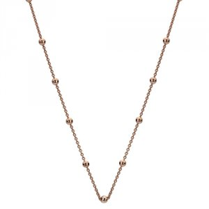 Strieborná retiazka Hot Diamonds Emozioni Rose Gold Cable with Ball Chain 30