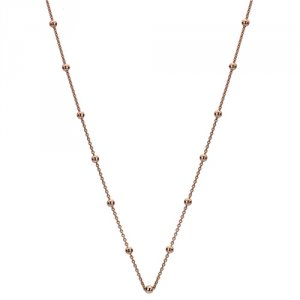 Strieborná retiazka Hot Diamonds Emozioni Rose Gold Cable with Ball Chain Rose 35
