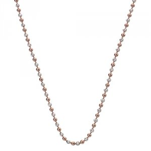 Strieborná retiazka Hot Diamonds Emozioni Silv and Rose Gold Bead Chain 30