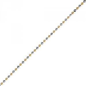 Strieborná retiazka Hot Diamonds Emozioni Silver and Yellow Gold Bead Chain CH046-7-8
