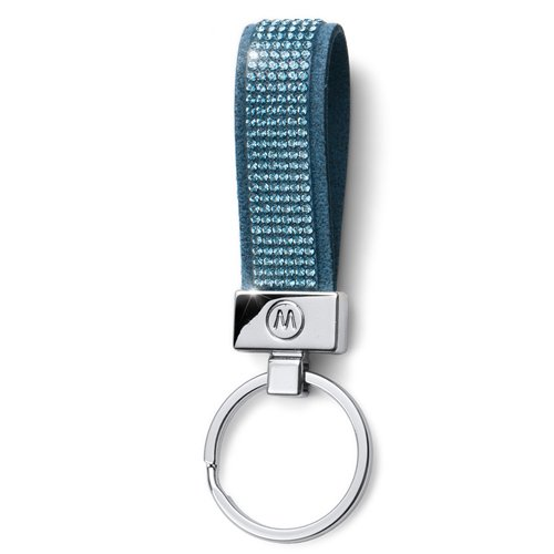 Prívesok na kľúče s krištáľmi Swarovski Oliver Weber Alcantara Blue 57141- 202 d80b4942655