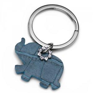 Prívesok na kľúče s krištáľmi Swarovski Oliver Weber Elephant Blue 0e4a28359b7