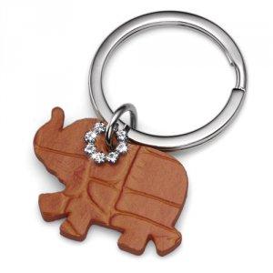 Prívesok na kľúče s krištáľmi Swarovski Oliver Weber Elephant Orange ee5e5ac3288