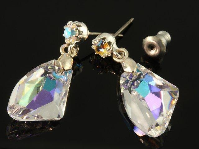 f9159b644 Swarovski Visiace náušnice s veľkým krištáľom, farba: AB crystal ...