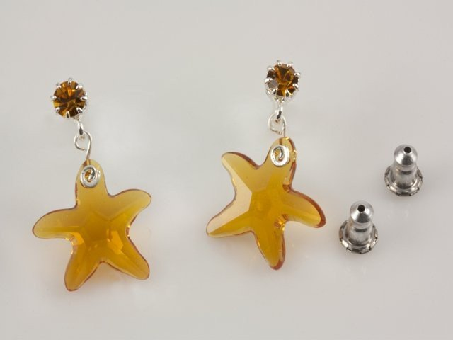 Swarovski Visiace krištáľové náušnice v tvare hviezdice 60c5666dfdc