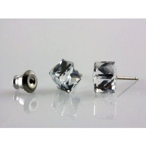 079859de8 Náušnice stredne veľká kocka, farba: crystal