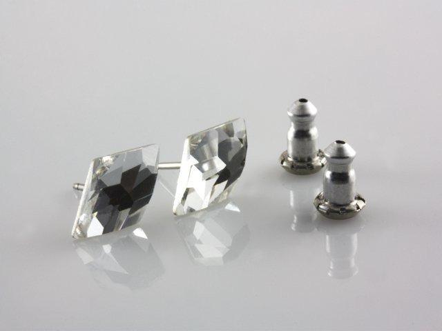 ce8bd3e94 Swarovski Náušnice v tvare kosoštvorca, farba: crystal - eŠperky.sk
