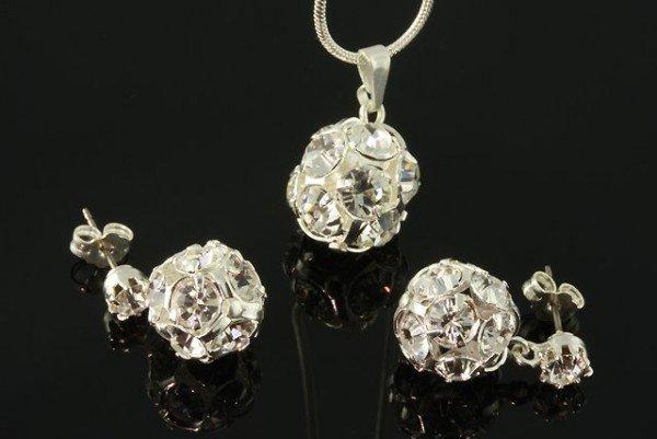 Swarovski Súprava s krištáľovými guličkami  farba  crystal - eŠperky.sk 0ea9c1d34da