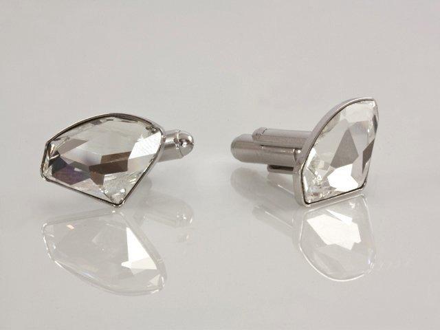 069936197 Swarovski Manžetové gombíky s asymetrickým krištáľom; farba: crystal ...