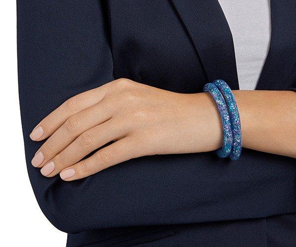 Swarovski Swarovski náramok STARDUST BLUE DOUBLE - veľ M bef8d2eab44