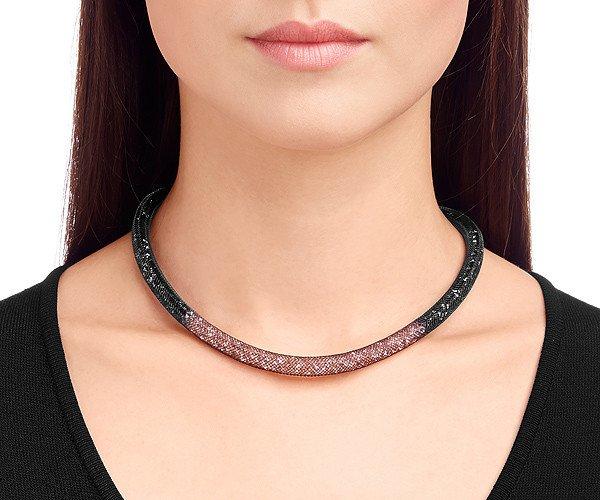 28d2e1eaaaa61 Swarovski náhrdelník STARDUST BLACK ROSE - nylon, farebné kryštály 5119065