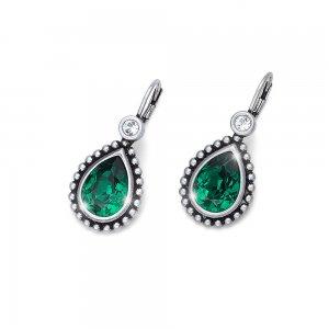 0c445b9e0 Náušnice s krištáľmi Swarovski Oliver Weber Antique Drop Emerald