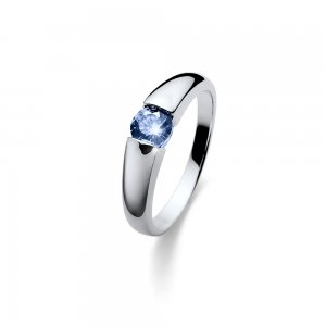 Strieborný prsteň so zirkónmi Swarovski Oliver Weber Tender Blue 8809d0c8faa