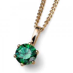 Prívesok s krištálmi Swarovski Oliver Weber Brilliance Medium gold green