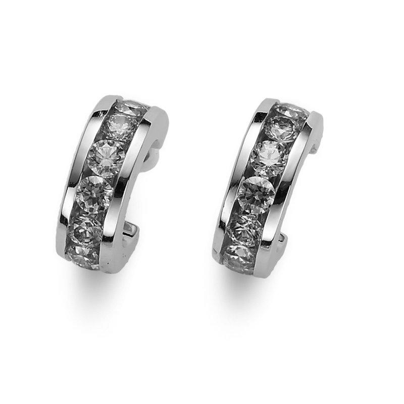 e4ee86b90 Strieborné náušnice s krištáľmi Swarovski Oliver Weber Circle crystal