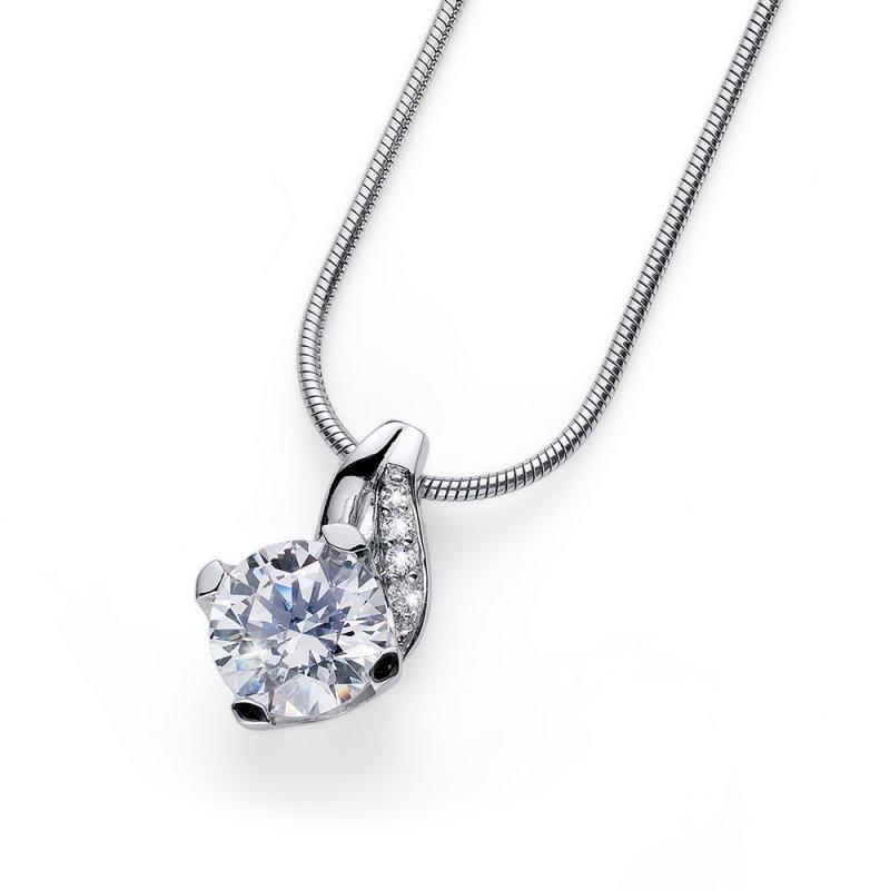 Strieborný prívesok s krištáľmi Swarovski Oliver Weber Success crystal 86e02563652