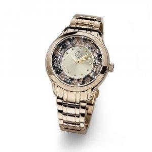 7fb0105c8 Dámske hodinky s krištáľmi Swarovski Oliver Weber Rocks Steel gold plated  ...